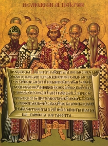 Holy Fathers with St. Constantine