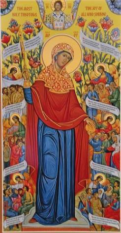 The Theotokos, Joy of all who sorrow